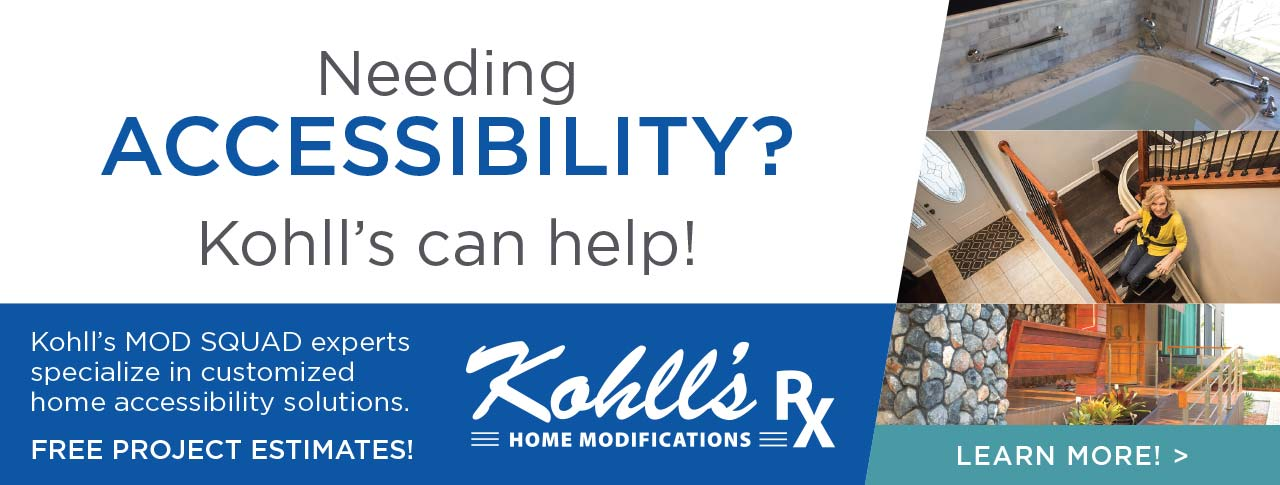 Kohll's ModSquad can help you with your home modifications for better accessibility!