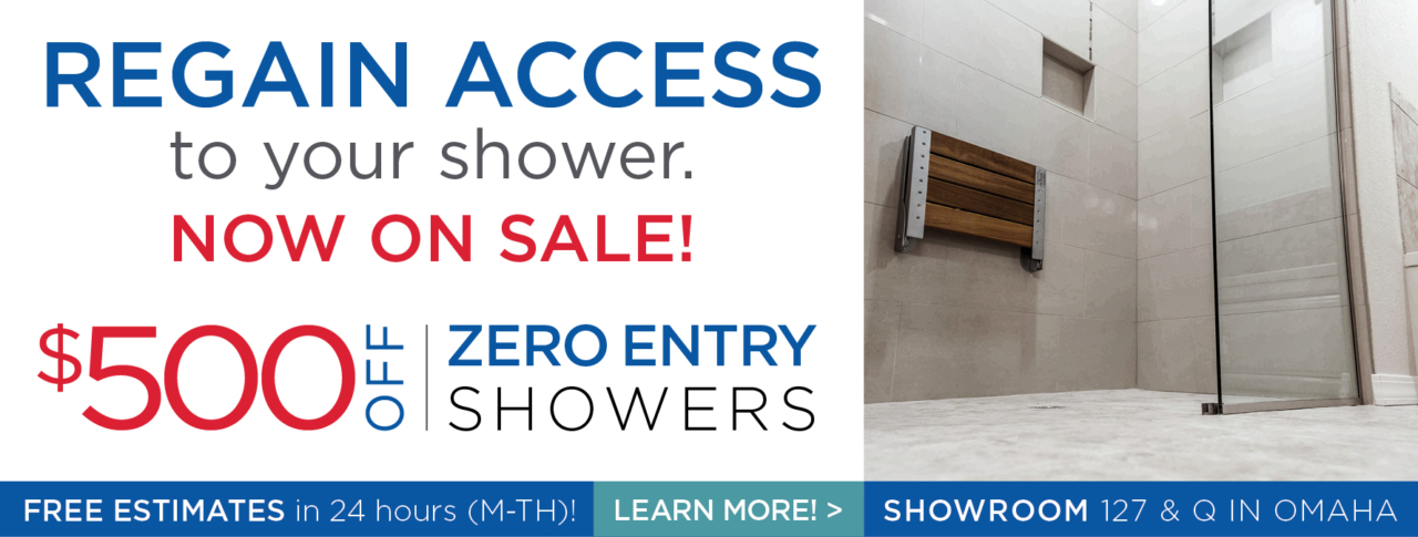 Zero-entry Showers now on sale - save up to $500!