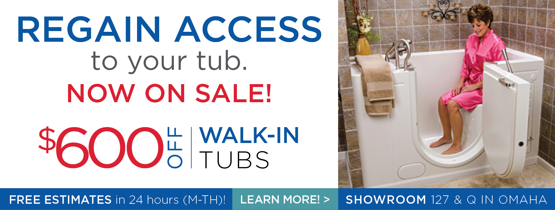 Walk-in Tubs now on sale - save up to $600!