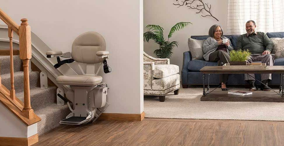 stair lift in a contemporary home
