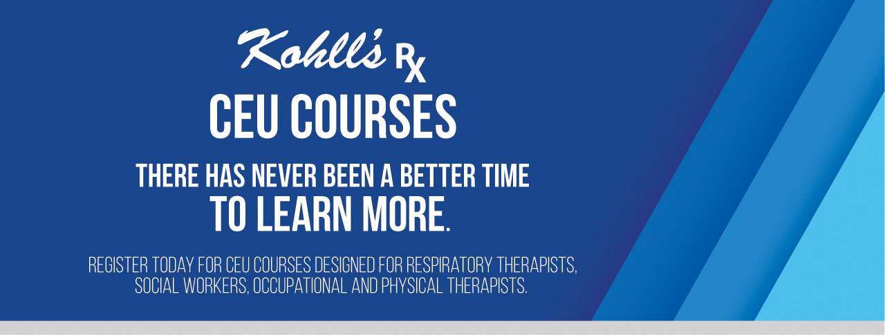 Register today for Kohll's Rx CEU Courses!