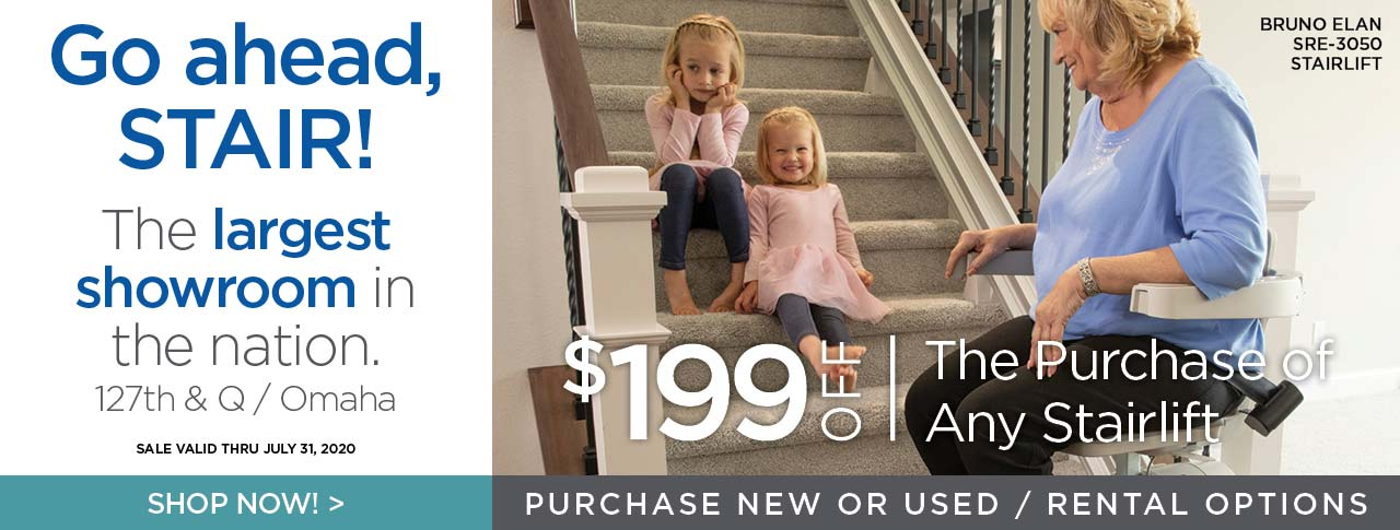 $199 off any Stairlift purchase at Kohll's Rx through July 31, 2020!