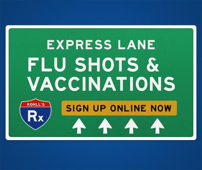Flu Shots & Vaccinations at Kohll's Rx!